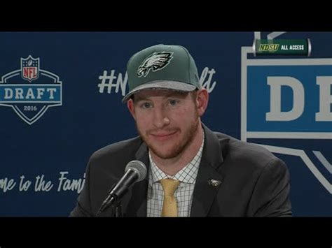 carson wentz nfl draft press conference april