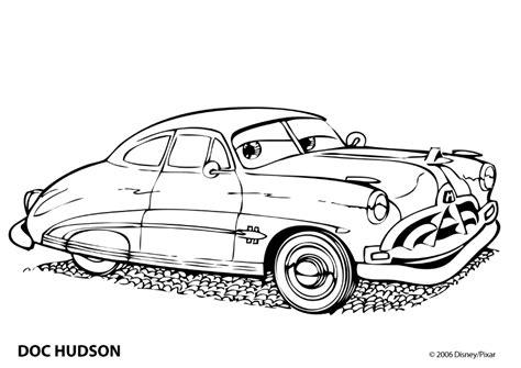 Kleurplaten Cars by Kleurplaat Cars Hudson 8022 Kleurplaten