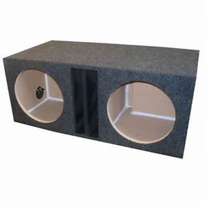 "12"" INCH DUAL SUBWOOFER SUB BOX ENCLOSURE LABYRINTH VENTED ..."