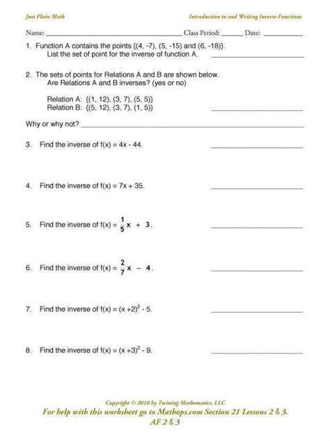 relations and functions worksheet homeschooldressage