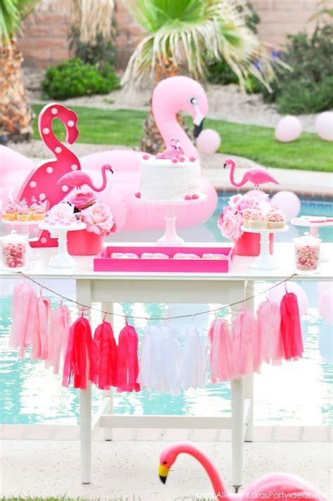 Kara's Party Ideas Flamingo Pool + Art Summer Birthday