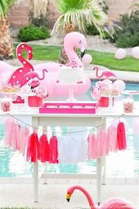 Kara's Party Ideas Flamingo Pool + Art Summer Birthday ...