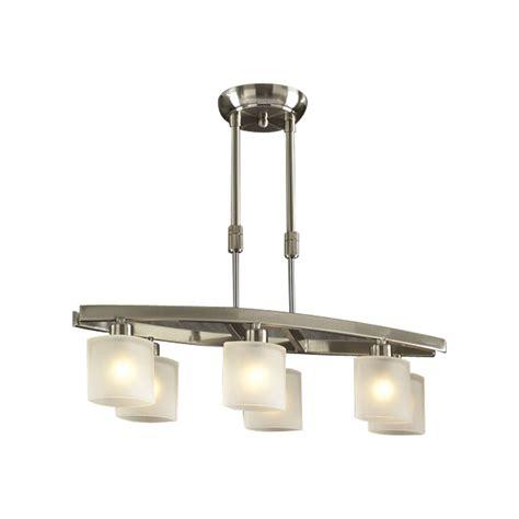 kitchen island lighting brushed nickel 6 light pendant wyndham collection shown in satin nickel 8193