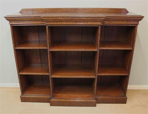 Antique Bookcases Uk by Antique Edwardian Oak Breakfront Open Bookcase 300501
