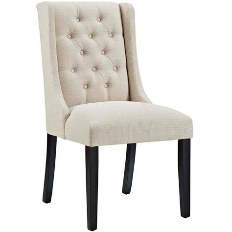 dining chairs fabric modway baronet beige fabric dining chair eei 2235 bei 3326