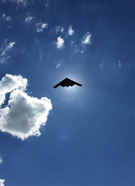 Took a picture of a stealth bomber flyover, was not ...