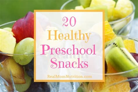 healthy snacks that preschoolers will 487 | 20 Healthy Preschool Snacks