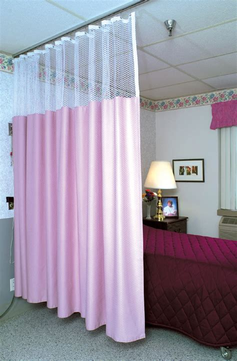 medline cubicle curtains with mesh 68w x 80h