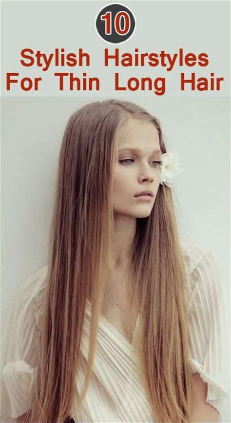 stylish hairstyles  long thin hair blonde straight