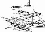 Dock Boat Clip Clipart Outline Boats Sail Vector Pier Row Santa Clker Lake Cliparts Drawing Svg Clipartfox Clipground Wikiclipart Speed sketch template
