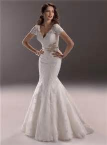 vintage lace wedding dresses with sleeves mermaid v neck backless vintage lace wedding dress with sleeve