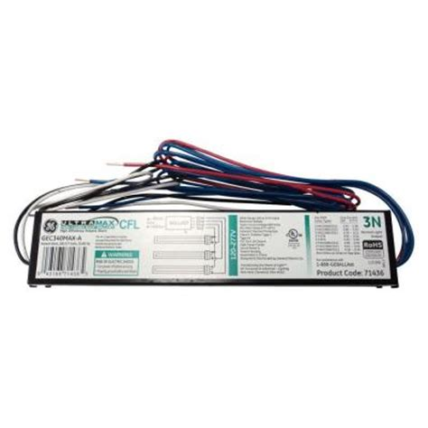 ge electronic ballast for 3 l compact fluorescent light