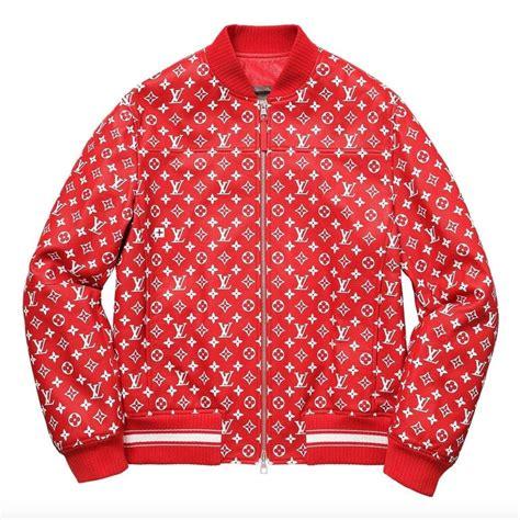 louis vuitton supreme  leather bomber varsity jacket monogram  ed size   sale  stdibs
