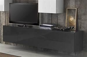 Meuble Tele Suspendu : meuble tv a suspendre maison design ~ Teatrodelosmanantiales.com Idées de Décoration