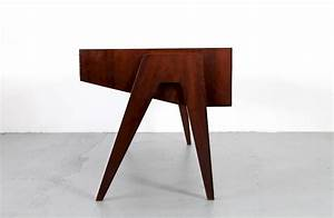 Mid Century Modern Walnut Writing Desk By Behr Mbel