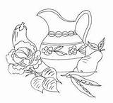Embroidery Patterns Cross Stitch Flickr Towel Silverware Coloring Designs sketch template