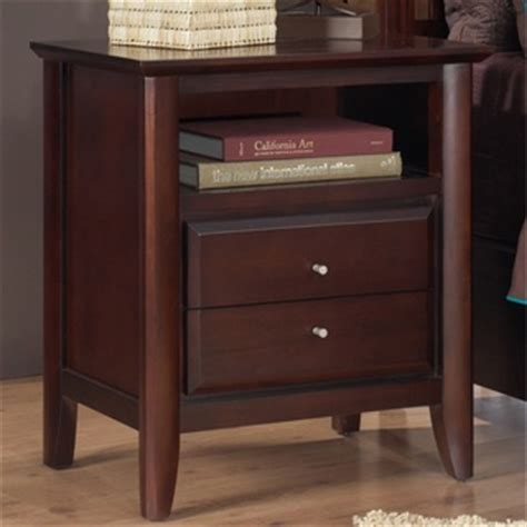 20 Inch Wide Nightstand by Contemporary Shaker Nightstand