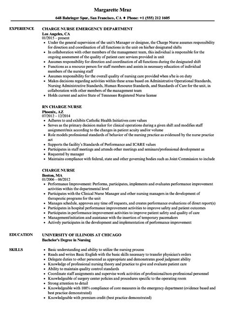 Resume Charges by Sle Rn Charge Resume Charge Resume Sle