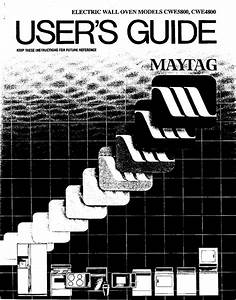 Maytag Cwe4800acb User Manual Oven Manuals And Guides L0502584