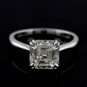 asscher cut engagement ring platinum solitaire asscher cut engagement ring mounting orospot jewelry on artfire