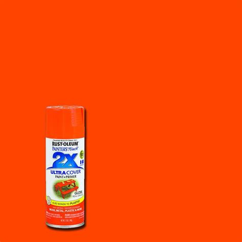 orange paint color in home depot commercial rust oleum painter s touch 2x 12 oz gloss real orange general purpose spray paint 249095 the