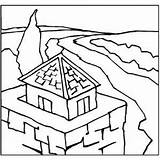 Tower Road Coloring Sheet sketch template