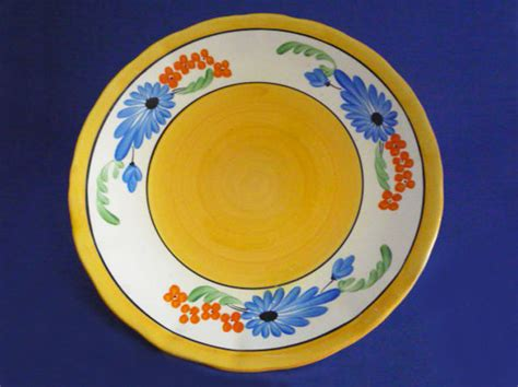 early clarice cliff bizarre sandflower   plate