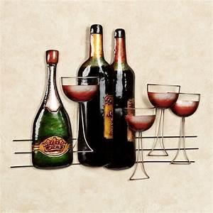 italian harvest metal wine wall art With wine wall art