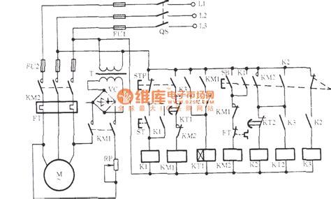 Three Phase Motor For Jog Brake Circuit Relay Control