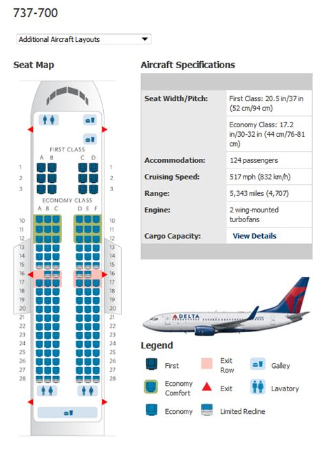 boeing 737 plan sieges delta airlines aircraft seatmaps airline seating maps