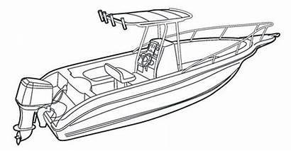 Boat Console Center Clip Template Sketch