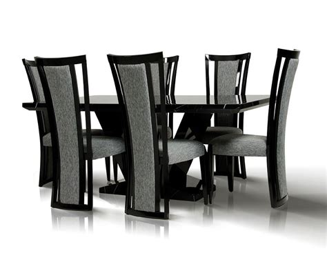 libra modern black marble dining set
