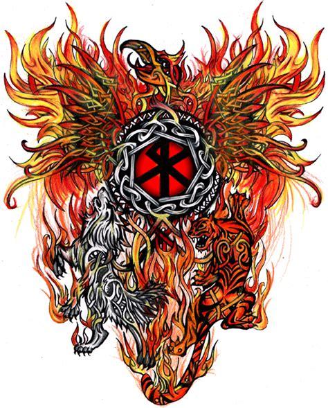 wolf tiger phoenix tattoo  star  deviantart