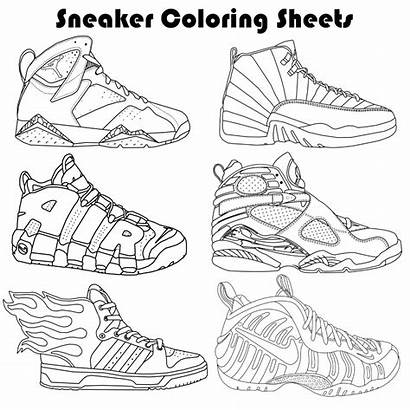 Coloring Pages Yeezy Sneaker Template