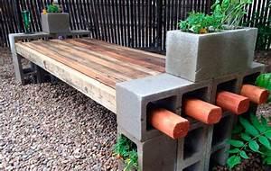 Betonbank Selber Bauen : como fazer bancos com blocos de concreto pintados criativa artesanato ~ Markanthonyermac.com Haus und Dekorationen