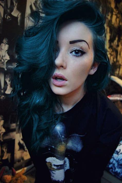 Midnight Blue Hair On Pinterest Directions Hair Dye