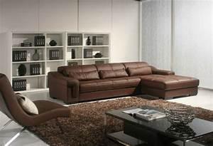 Wohnzimmer Mit Brauner Couch : ledersofa mit fantastischem design 83 beispiele ~ Markanthonyermac.com Haus und Dekorationen