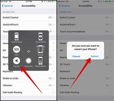 iphone restart code how to turn or reboot iphone and in ios 11