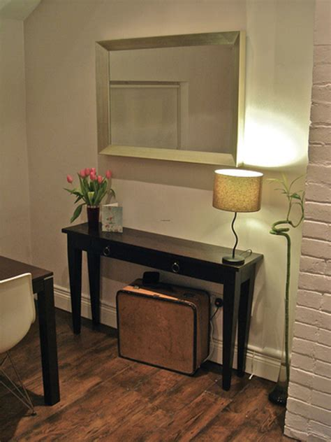 narrow console table for tiny hallway plan traba homes