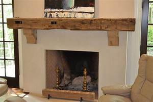 reclaimed wood mantle rustic living room atlanta With barnwood mantel ideas