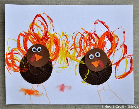 cupcake liner turkey craft i crafty things 271 | Cupcake Liner Turkey