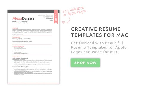 Resume Template Mac by Creative Resume Templates For Mac Apple Pages ٩ ۶