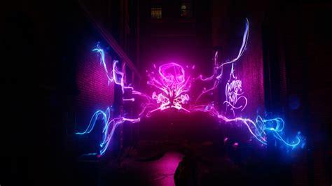 wallpaper infamous  son  street neon skull