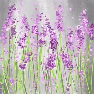 Lavender Blossoms - Lavender Field Painting Painting by ...