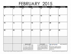 2015 calendar templates and images With calendar template for february 2015