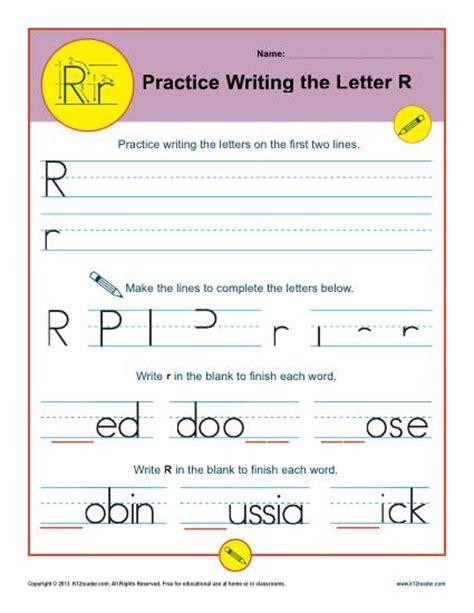 letter r worksheets printable handwriting worksheet