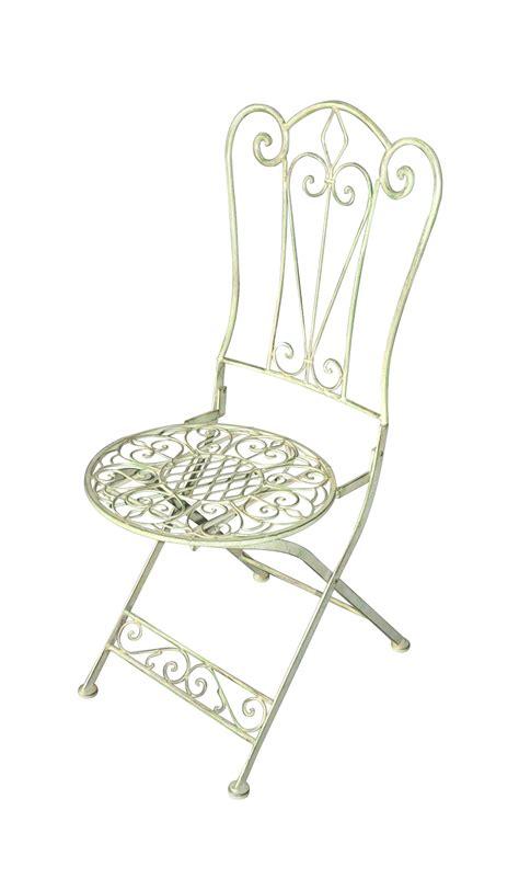 chaise pliante fer forgé chaise fleur de lys en fer forgé vert pale demeure et jardin