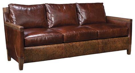 stickley leather sofa price stickley alameda blvd sofa cl 8782 78