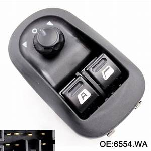 Electric Power Window Switch Master Button For Peugeot 206