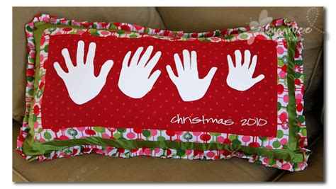 christmas crafts for grandparents handprint pillow sugar bee crafts